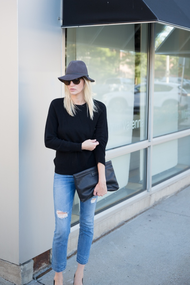 Back to Basics: Sweater, Pumps and Great Denim