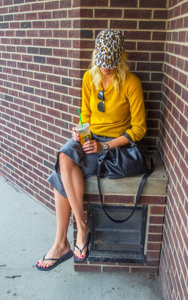 Mustard Sweater Multiple Ways