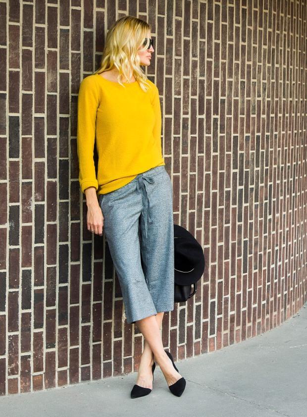 Mustard Sweater Multiple Ways